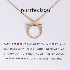 Purrfection Cat Necklace, with Card