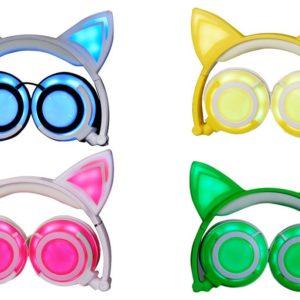 Light Up Cat Ear Headphones - Colors