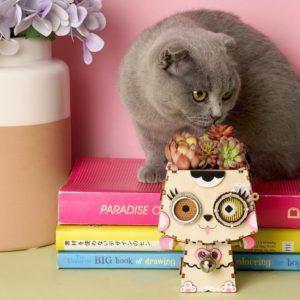 Robo Flower Pot Cat Puzzle