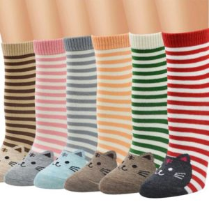 Stripy Cat Socks - Colors